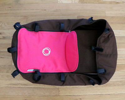 Preowned Bugaboo Cameleon 3 Stroller Complete Bassinet Pink and Brown
