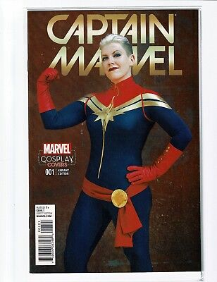 CAPTAIN MARVEL #1   COSPLAY VARIANT    Near Mint     FREE SHIP     BUY IT NOW