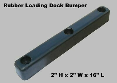 """LOADING DOCK BUMPER 16"""" Wide Rubber Warehouse Truck Trailer Wall Protection"""