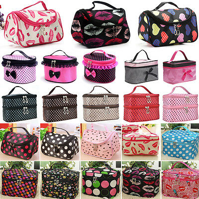 Women Travel Cosmetic Bag Make Up Vanity Case Box Pouch Toiletry Storage Holder
