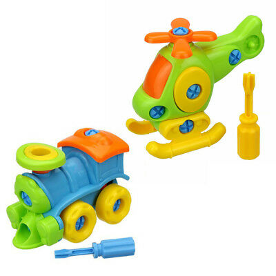 Kids Baby Early Learning Airplane Disassembly Assembly Puzzle Educational Toys C