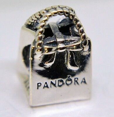 PANDORA Genuine SILVER BAG Shopping charm Sterling Silver S925 ALE 791184