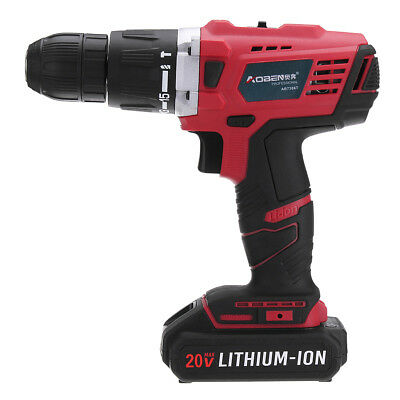 20V Lithium Cordless Power Drill Rechargeable Electric Screwdriver with LED Ligh