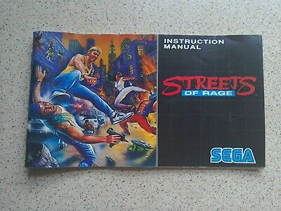 Streets of Rage Manual - Sega Mega Drive - NO GAME MANUAL ONLY