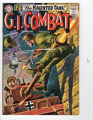 G.I. Combat #96 VG+ 4.5 Off White Pages Grey Tone Cover