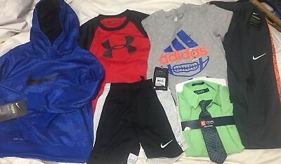 BRAND NEW 6-pc Boys Lot Sz 4 NIKE UNDER ARMOUR ADIDAS Hoodie Shorts Tshirt Sweat