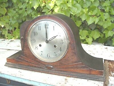 Mantel  Clock Working Striking Napolean Hat Clock Key  & Pendulum