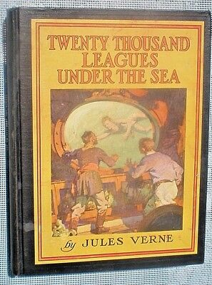 TWENTY THOUSAND LEAGUES UNDER THE SEA Jules Verne 1950 Illustrated Hardcover
