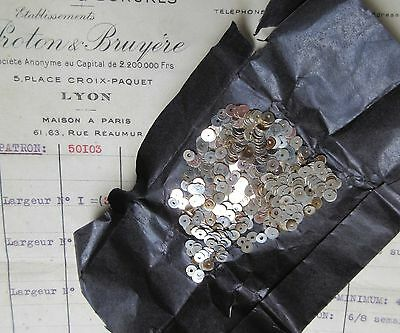 5mm Vintage Antique French Metal Silver Sequins Couture Embroidery Costume