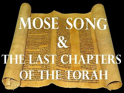 TORAH SCROLL BIBLE JEWISH FRAGMENT MOROCC 250 YRS The last chapters of the Torah