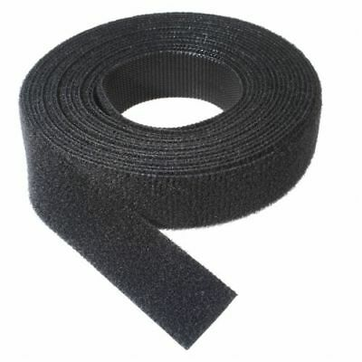 25mm Wide DOUBLE SIDED Hook & Loop Tape Black Craft DIY Cable Cord Guitar Home 1