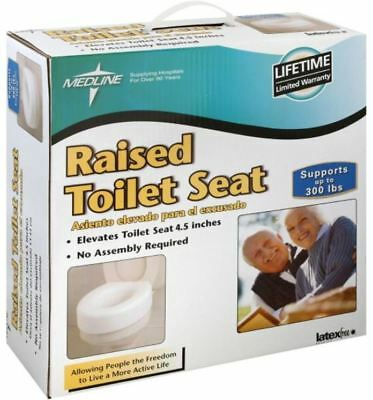 Astounding 4 Inch Raised Toilet Seat Medical Elevated Riser W Cover Short Links Chair Design For Home Short Linksinfo