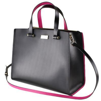 7a99e35fcac6  380 NWT KATE SPADE Black   Pink Krya Arbour Hill Satchel Bag ...