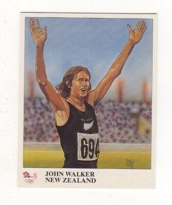 NZ. John Walker Olympic athletics card