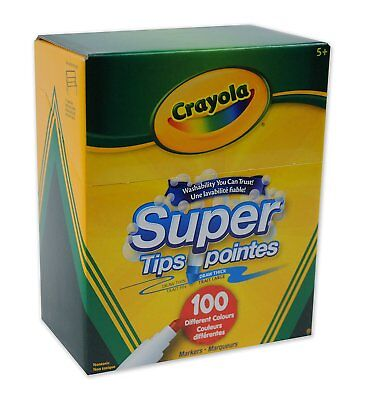 Crayola 100 Super Tips Washable Markers
