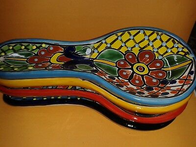 Beautiful Handcrafted Ceramic Spoon Rest Authentic Talavera from Mexico Talavera