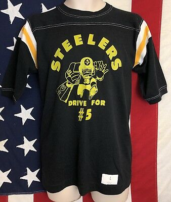 VTG SportsWear 80s Pittsburgh Steelers Super Bowl Jack Lambert T-Shirt 50/50 M