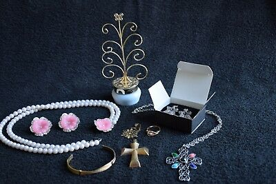 Lot of Vintage Avon Jewelry Including Kenneth Lane Lucite and Rhinestone Set