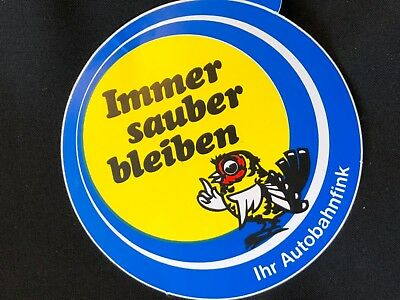 1 VINTAGE 80'S GERMAN STICKER 3 x 3
