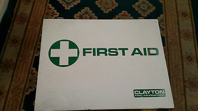 Vintage Clayton Wooden Wall Mounted First Aid Cabinet