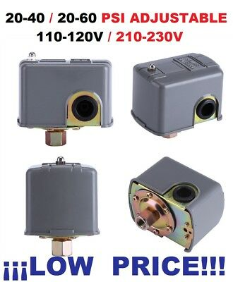 20-40 Psi Adjustable Water Pump Pressure Switch Control , Free Shipping Free Tax