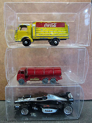 MATCHBOX HOTWHEELS etc. Clear Plastic DISPLAY CASES for cars 8x4x4cm (10 pack)