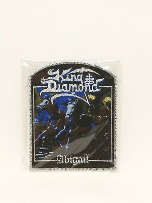 King Diamond Abigail band metallic sliver patch, Iron on Woven Badge U.S Seller