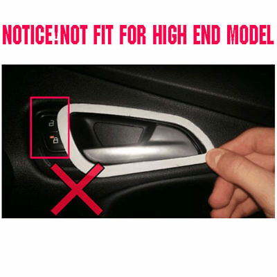 Fit For 12-14 Ford Focus Chrome Interior Inner Door Handle Bowl Catch Cover Trim