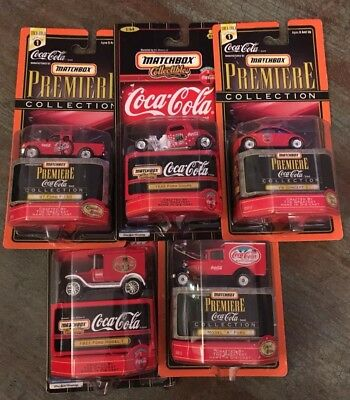 Matchbox Collectibles Coca Cola Lot 5 Cars Ford NEW