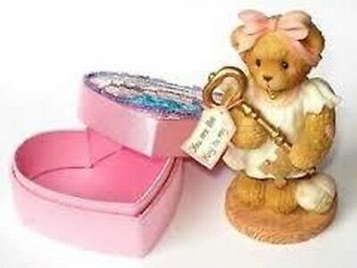 Cherished Teddies  ~  JOSETTE ... Key To My Heart & Sequin Box  *  NEW From Shop