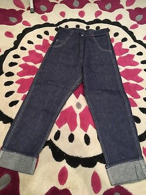 Authentic Vintage Childrens Deadstock Jeans  1960s/1970s Rockabilly Swing