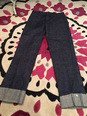 Authentic Vintage Childrens Deadstock Jeans  1960s/1970s Rockabilly Swing 28w36L