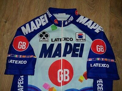 592d7ee77 MAPEI GB LATEXCO Colnago Sportful full zip rare vintage cycling jersey size  L - £29.99