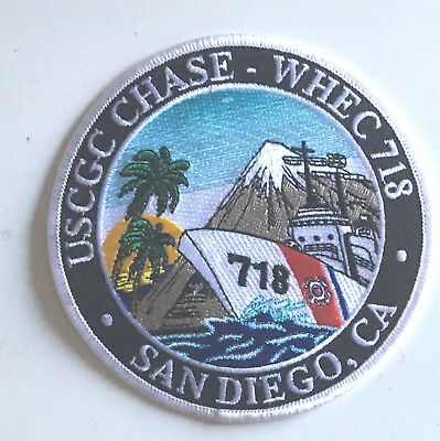 United States Coast Guard USCG Chase WHEC 718 patch 4-1/2 in dia #2344