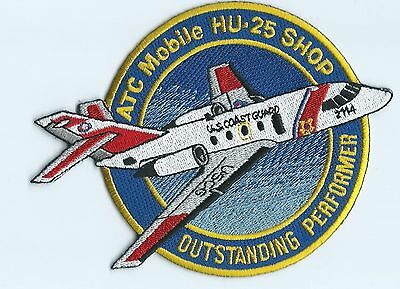 United States Coast Guard USCG patch ATC Mobile HU 25 Shop 3-3/4 dia X 5-1/8
