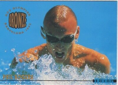 Australian Olympic Card. Swimming - Phil Rogers (Bronze Medal)