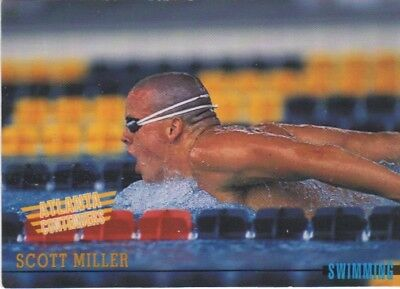 Australian Olympic Card. Swimming - Scott Miller