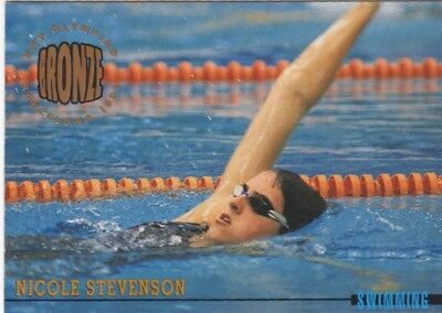 Australian Olympic Card. Swimming - Nicole Stevenson