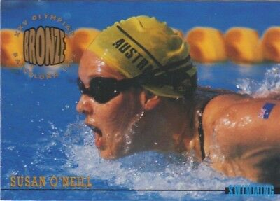 Australian Olympic Card. Swimming - Susan O'Neil (Bronze Medal)