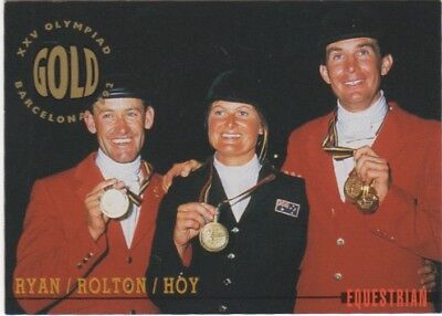 Australian Olympic Card. Equestrian - 3 Day Event Team (Gold Medal)