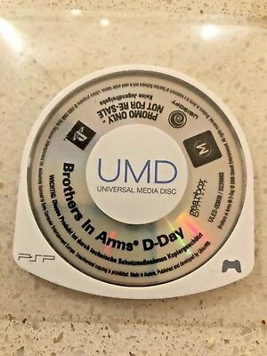 Brothers In Arms D-Day Psp Game - Promo Disc - Playstation  - Sony