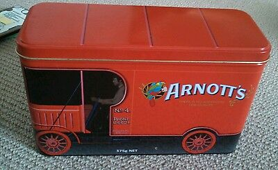 Collectable ARNOTT'S BISCUIT Tin Red Truck with free post