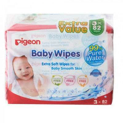 Pigeon Baby Wipes pure water 3 x 82