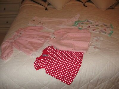 Baby Girls Clothes 6 Items selling together New Pink & White Romper Suit,Dress