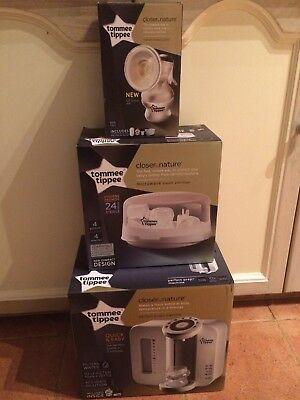 Tommee Tippee Perfect Prep Machine, Microwave steriliser And Breast Pump Set