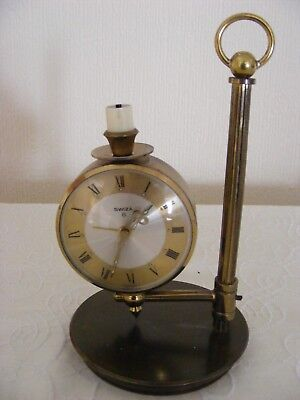 Swiss Made Brass Alarm Clock Swiza  8 Brass Alarm Clock Wind Up Clock