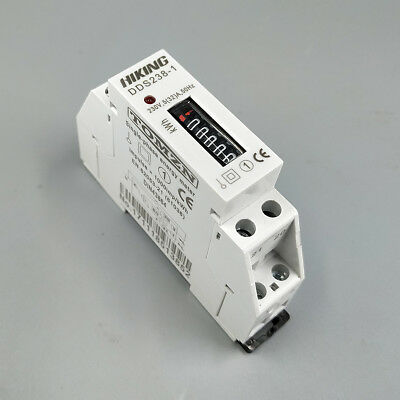 5(32)A 230V SinglePhase kWH energy meter with Step motor impulse register disply
