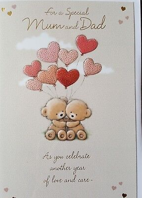 For A Special Mum And Dad Mum And Dad Wedding Anniversary Greeting