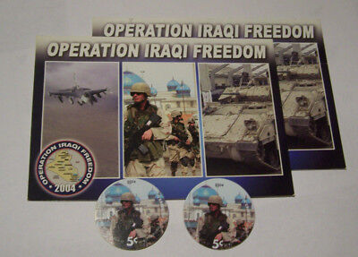 AAFES  Pog  5G5 with OIF Postcard from 2004 A.U.  condtion
