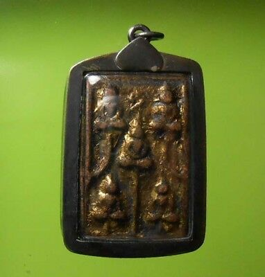 Real Lp Ngern Old Thai Buddha Amulet Very Rare !!!